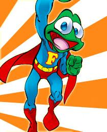 Moorten Julius Quaaak als Super-Frosch-Held