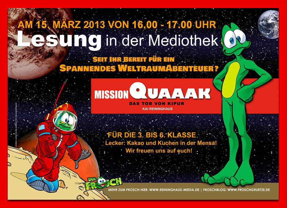 Mission Quaaak_Lesung_Berlin_Plakat_kai Reininghaus
